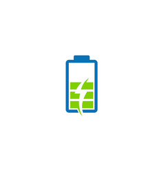 battery power charge icon logo vector image