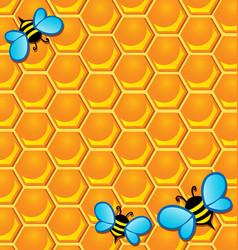 bee theme image 2 vector image