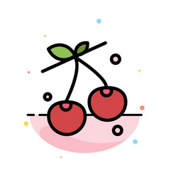 berry cherry food spring abstract flat color icon vector image