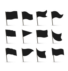 black flag icons vector image