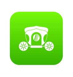 brougham icon digital green vector image