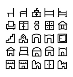 Buildings and Furniture Icons 11 vector
