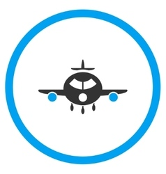 Cargo Aeroplane Circled Icon vector image