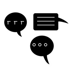 Chats icon black sign on vector