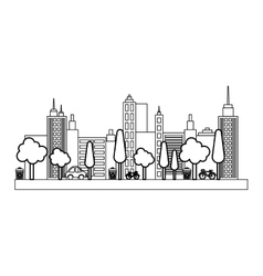 City urban view vector image