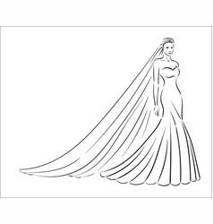 concept of bride icon vector image