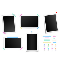 creative set of square photo vector image