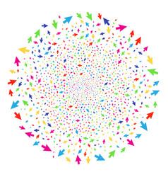 cursor arrow explosion globula vector image