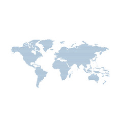 Earth world global map line simple concept in flat vector