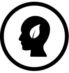 eco mind icon vector image