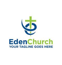 Eden church vector