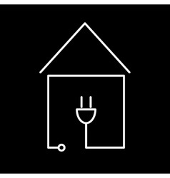 electricity communication house icon vector image vector image