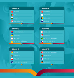 european football 2020 tournament final stage vector image