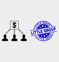 Financial clients links icon and grunge vector