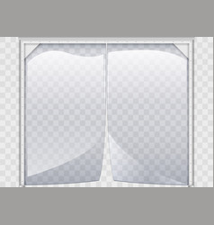 Flexible plastic curtain vector