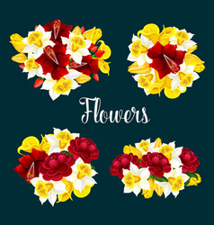 flower pattern or poster vector image
