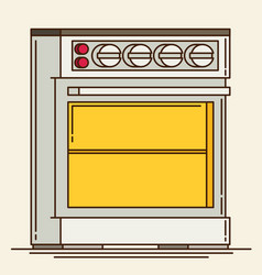 Gas stove plates flat vector