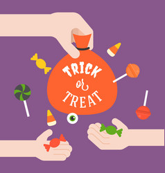 Giving candy for children vector