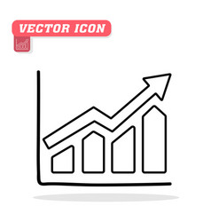 graph icon in trendy flat icon white backgr vector image