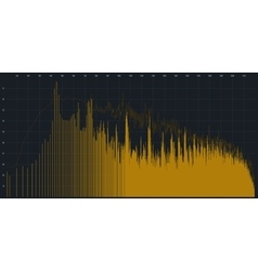Graphic equalizer of yellow color vector