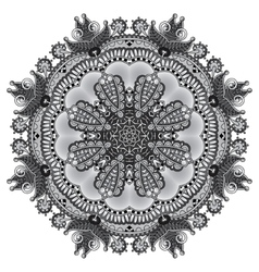 Grey circular decorative geometric pattern for vector