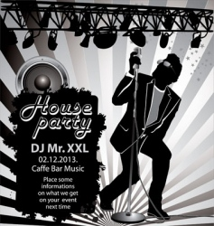 house party background vector image
