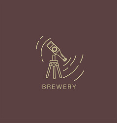 icon and logo beer and brewery vector image