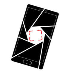 icon or logo with a picture a smartphone vector image