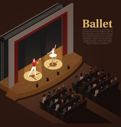 Indoor theatre ballet background vector