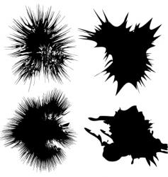 inky splats vector image