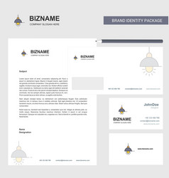 light business letterhead envelope and visiting vector image