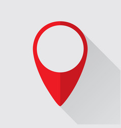 Location mark flat icon vector