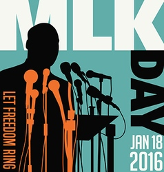 Martin Luther King Day January 18 2016 vector