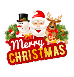 Merry christmas cheerful company vector