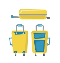 Modern suitcases on wheels vector image