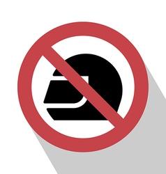 No Helmet Sign vector