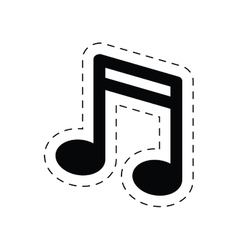 Note music sound melody pictograph vector