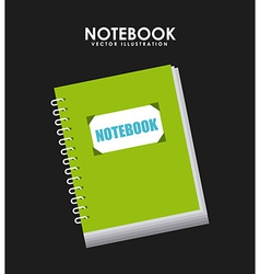 notebook design vector image