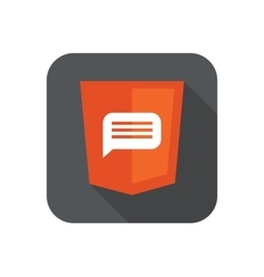 Orange shield with html vector