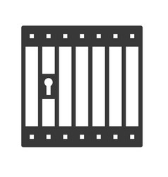 Prison cell icon police related vector