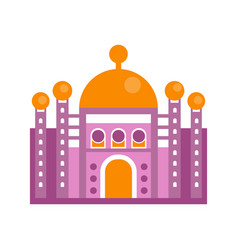 Purple majestic palace building vector