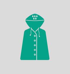 raincoat icon vector image