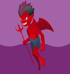Red Devil Satan Cartoon Design vector image