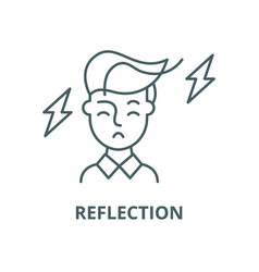 reflection line icon linear concept vector image