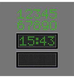 Scoreboard numbers isolated on grey vector