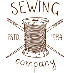 Sewing company logo vector