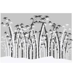 Silhouettes of bamboo vector
