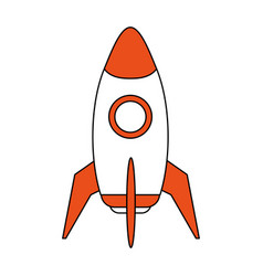Space rocket launch icon vector