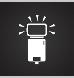 Speed flash icon on black background for graphic vector