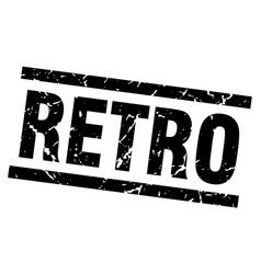 square grunge black retro stamp vector image